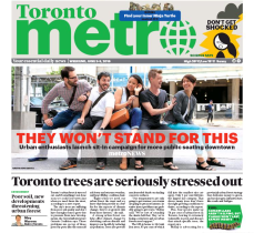 June 3, 2016 - Metro Toronto: They won't stand for this